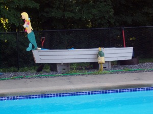 . . . even the Mermaid seems to enjoy all this rain!